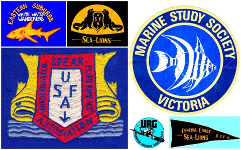 Australian spear fishing and marine science diving clubs active in 1960s pre PADI dive schools.