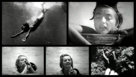 """Charlotte Hass """"Lotte"""" frames from her screen test."""