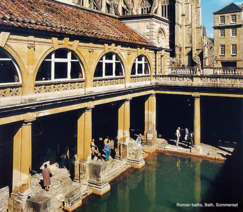 The Roman baths, Bath, Sommerset UK where Kathy was born - not in the pool but in the city called Bath.