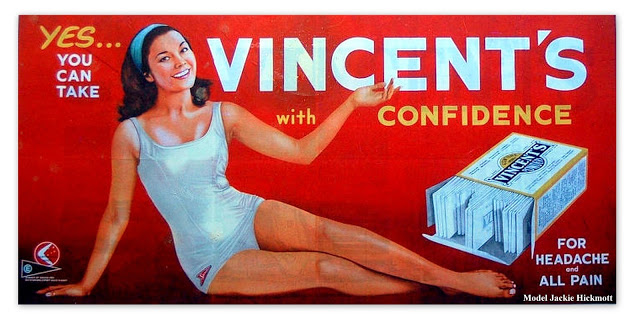 Jackie Hickmott modeling for Vincents