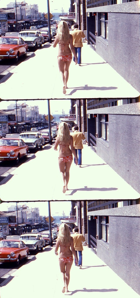 Kathy at Coogee - a Sydney beach suburb (1968) - soap commercial day.